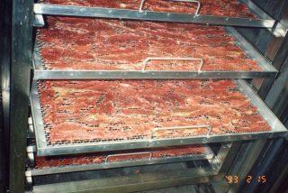 畜産品 ペットフード用ビーフジャーキーの乾燥テスト