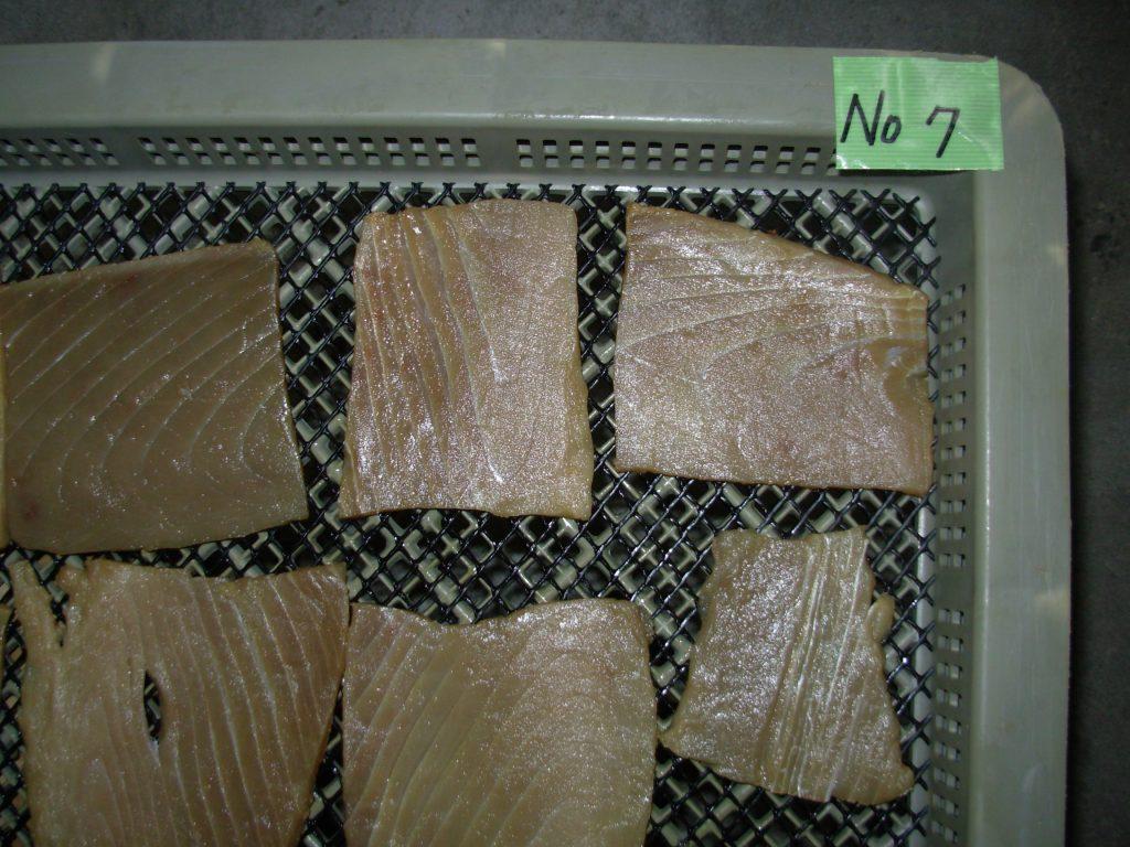 水産品 珍味 マグロジャーキー低温乾燥テスト