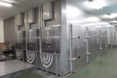 干物用低温乾燥機 平行流式SA-D40型 3台撤去入替設置